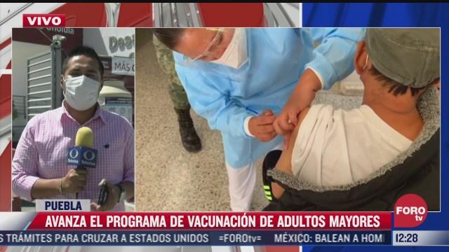 avanza programa de vacunacion para adultos mayores en puebla