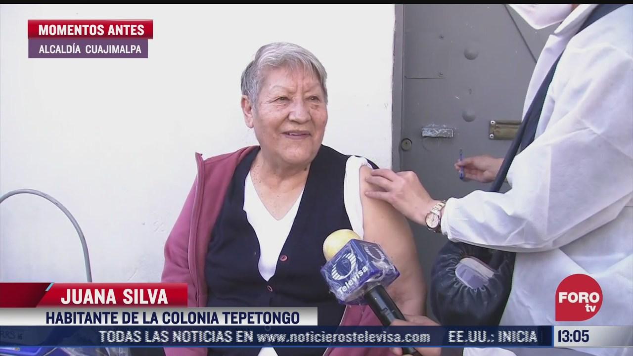 brigadas visitan domicilios para vacunar a adultos mayores en cuajimalpa cdmx