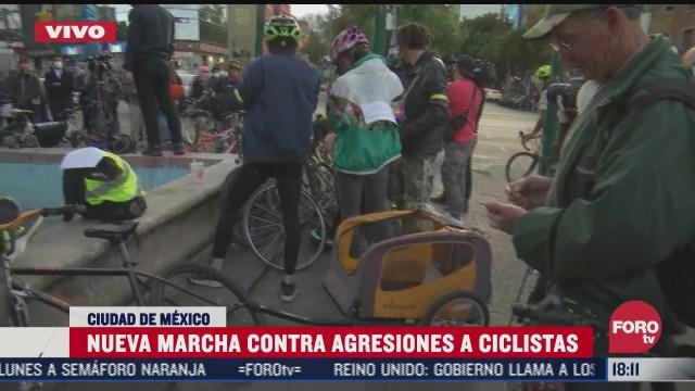 ciclistas se concentran en avenida insurgentes norte y avenida alvaro obregon