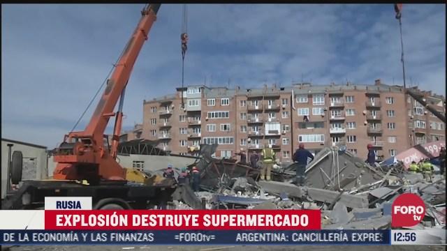 explosion destruye supermercado en rusia