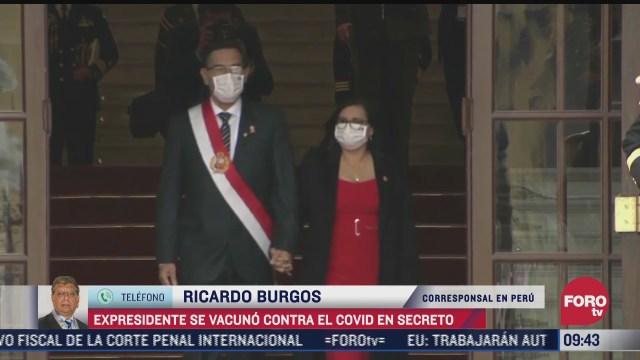 expresidente de peru martin vizcarra se vacuno contra covid 19 en secreto