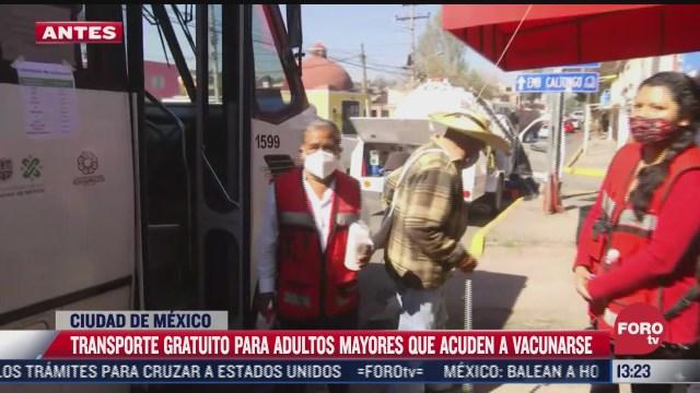gobierno cdmx ofrece transporte gratuito a adultos mayores para vacunarse