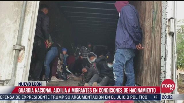 guardia nacional auxilia a migrantes en condiciones de hacinamiento