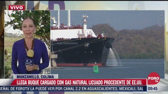 llega buque cargado con gas natural licuado procedente de eeuu