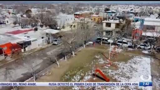 los efectos de la nevada en el norte de mexico