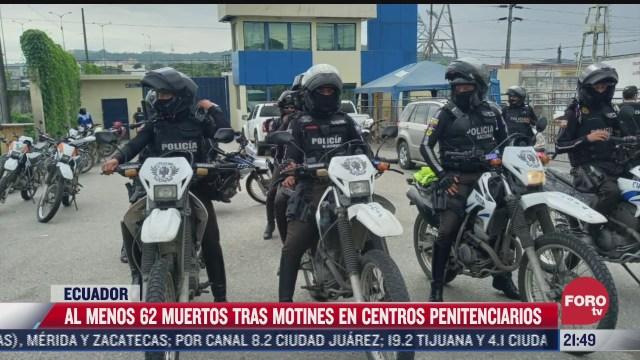 motines en carceles de ecuador deja 62 muertos