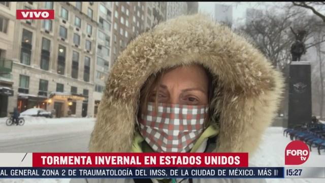 nueva york sufre una de sus peores nevadas de los ultimos tiempos