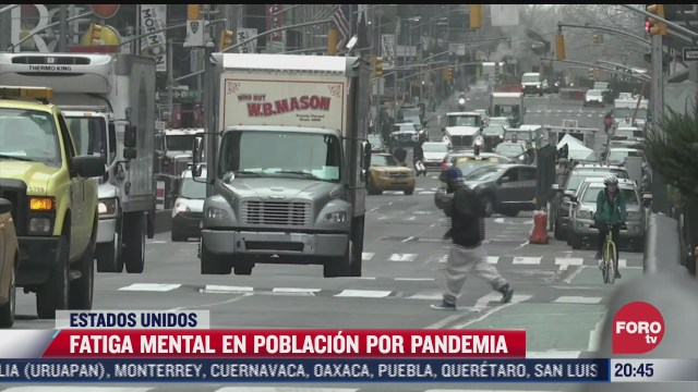 pandemia provoca fatiga mental en poblacion estadounidense