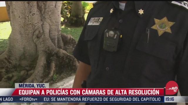 policia de merida usara camara en uniforme para grabar sus acciones