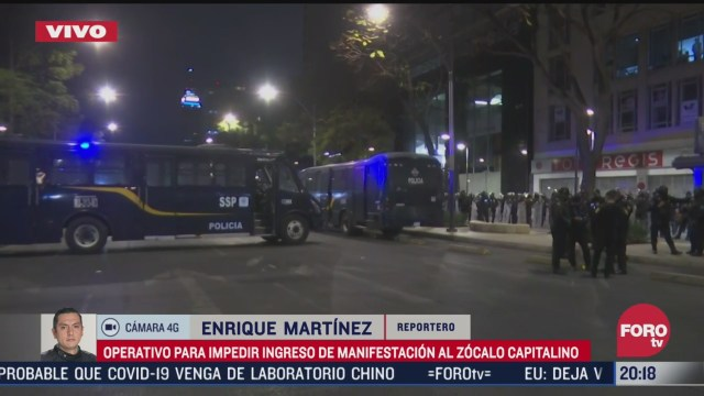 policias realizan operativo para impedir manifestacion al zocalo capitalino