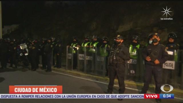 policias repliegan a transportistas en la autopista mexico pachuca en la cdmx