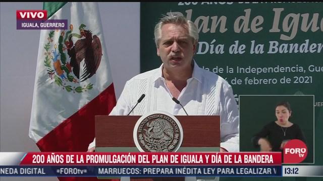 presidente de argentina asiste a conmemoracion de los 200 anos del plan de iguala