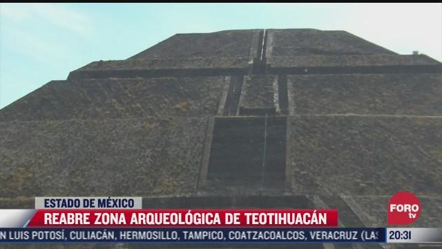 reabren zona arqueologica de teotihuacan