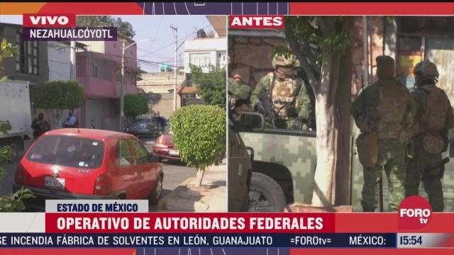 realizan operativo en inmueble de nezahualcoyotl por 800 kilos de cocaina