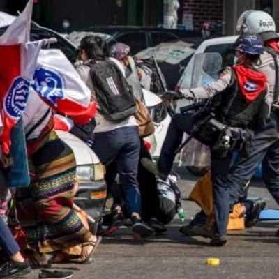 Represión policial por protestas en Myanmar deja seis muertos