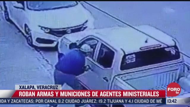 roban armas y municiones a policias ministeriales de xalapa veracruz