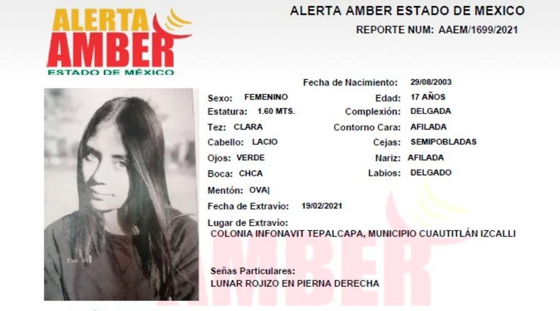 Desaparece Rubí Alexandra joven de 17 años que salió a vender dulces en el Estado de México
