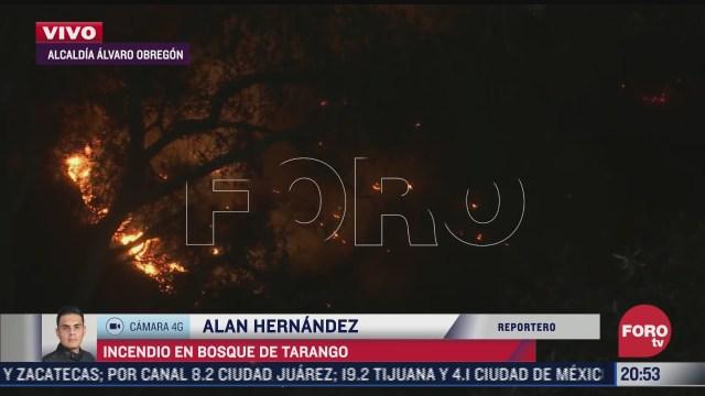 se registra incendio en bosque de tarango cdmx