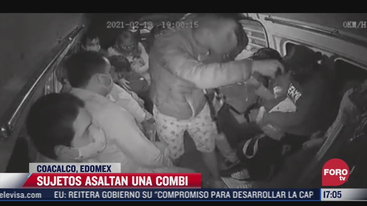 sujetos asaltan una combi en coacalco estado de mexico
