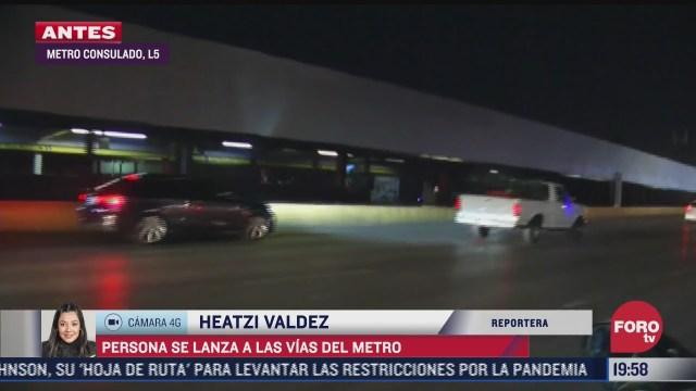 suspenden servicio del metro en estacion consulado por persona que se arrojo a las vias