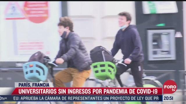 universitarios afectados por pandemia covid 19 en paris