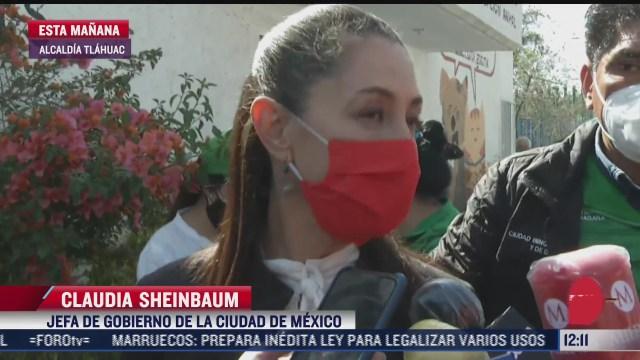 visita sheinbaum centro de vacunacion en escuela nacional preparatoria