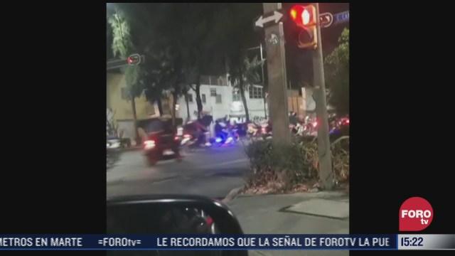 125 detenidos durante rodada motociclista en cdmx