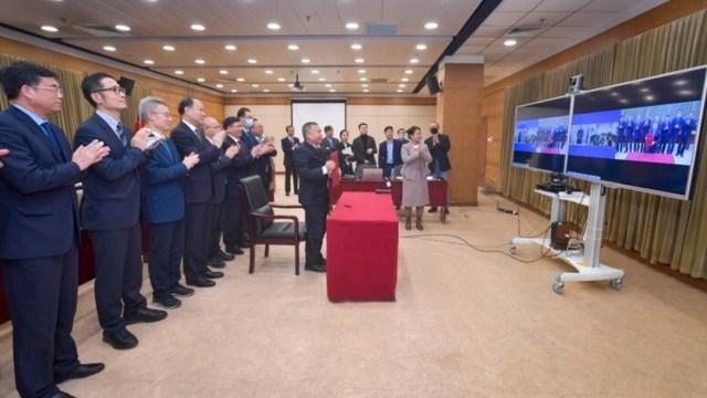 Autoridades de China y Rusia firman un acuerdo de cooperación para construir Estación Internacional de Investigación Lunar (Twitter: @CN_NSA)