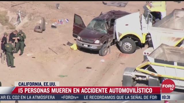 al menos diez mexicanos murieron en accidente en california