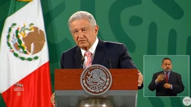 El presidente Andrés Manuel López Obrador, en la conferencia de prensa de esta mañana