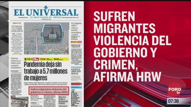 analisis de las portadas nacionales e internacionales del 5 de marzo del