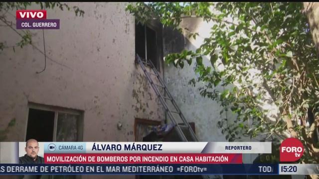bomberos combaten incendio en casa habitacion de la colonia guerrero