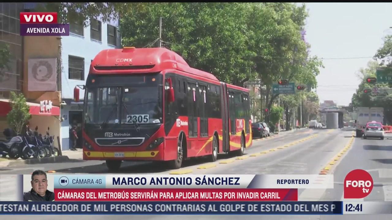 camaras del metrobus serviran para aplicar multas