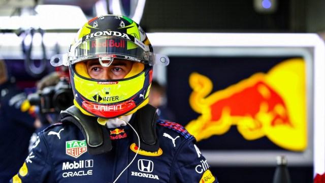 "Sergio ""Checo"" Pérez de México en el Circuito Internacional de Bahrein (Getty Image)"