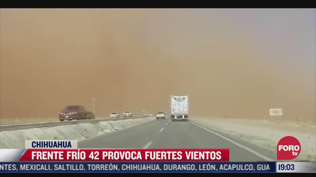 continuaran fuertes vientos en chihuahua