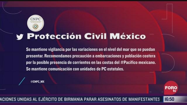 descartan tsunami en el pacifico mexicano tras sismo en nueva zelanda