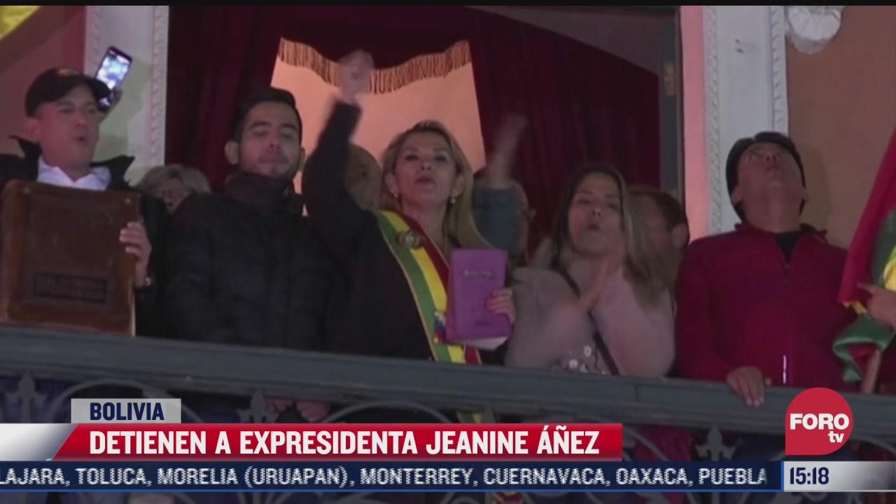 detienen a expresidenta de bolivia jeanine anez