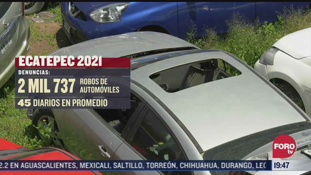 ecatepec segundo lugar en robo de autos a nivel nacional