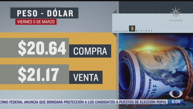 el dolar se vendio en 21 17en la cdmx del 5 de marzo del