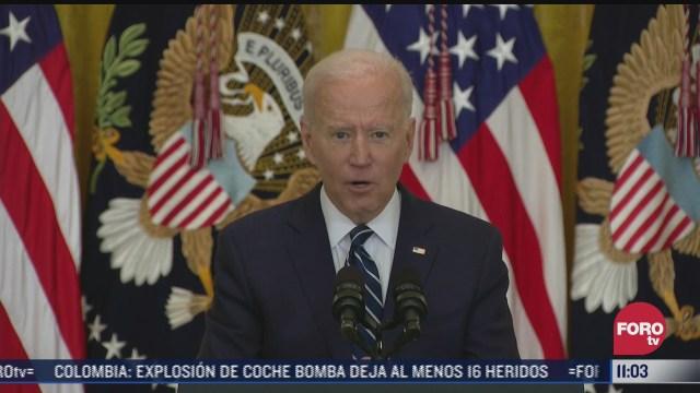 el presidente de estados unidos joe biden defiende su politica migratoria