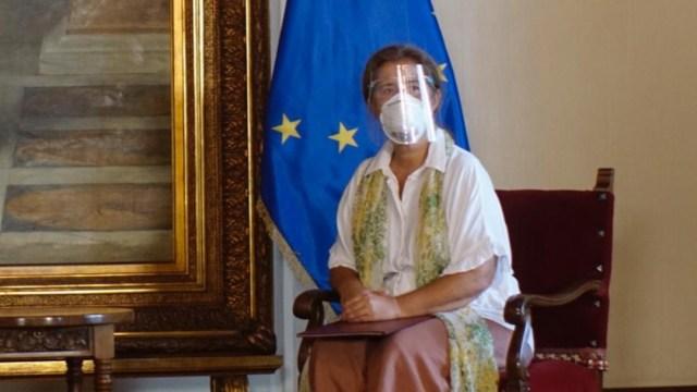 Embajadora de la Unión Europea en Caracas, Isabel Brilhante Pedrosa (Twitter: @CancilleriaVE)