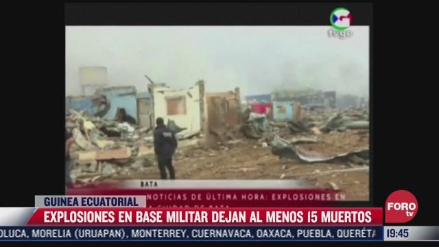 explosiones en base militar dejan 15 muertos en guinea ecuatorial
