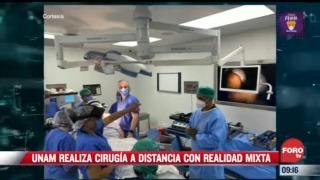 extra extra unam realiza cirugia a distancia con realidad mixta