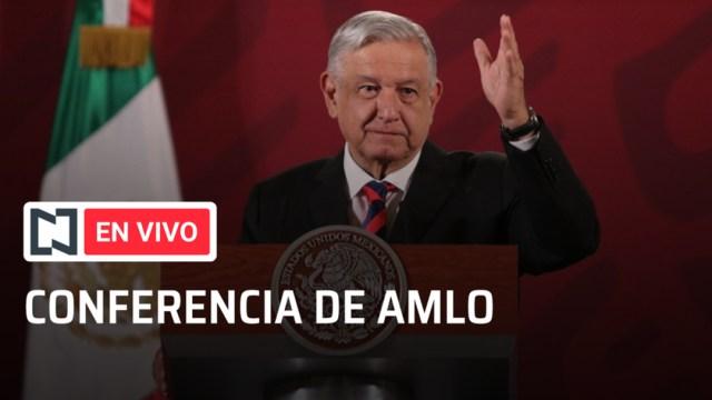 Conferencia en vivo Andrés Manuel López Obrador. (Foto: Noticieros Televisa)