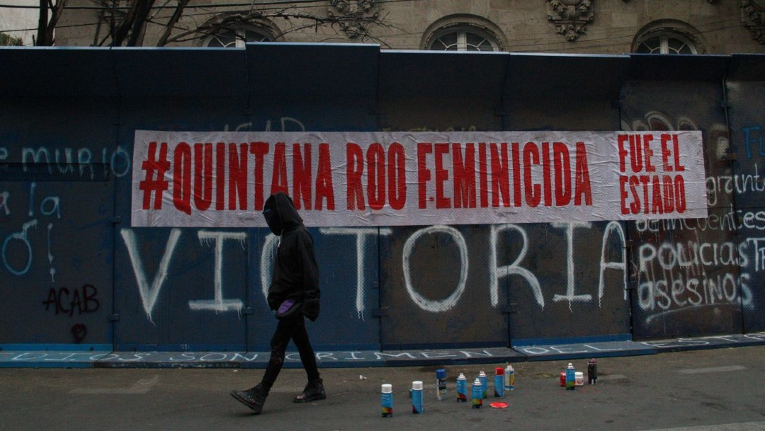 Fotos: Mujeres se manifiestan en Quintana Roo y la CDMX por feminicidio de Victoria