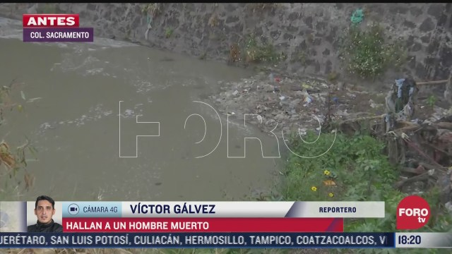 hallan cuerpo de un hombre en canal de aguas negras en cdmx