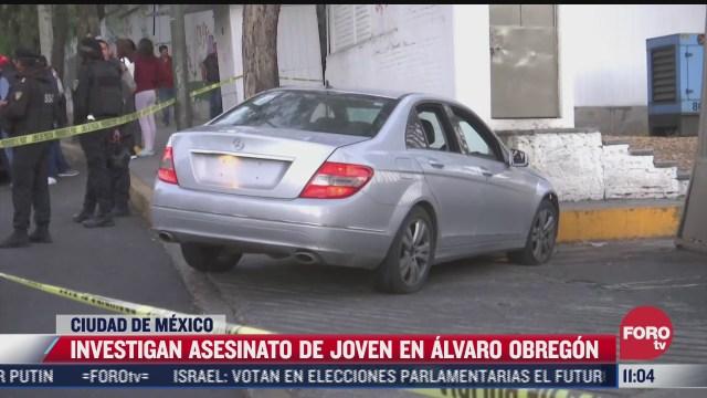 investigan asesinato de joven en alvaro obregon cdmx