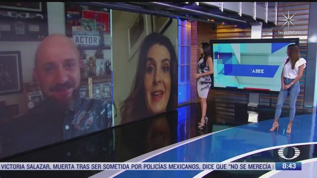 paola rojas entrevista a mayrin villanueva y a dario ripoll por la nueva temporada de vecinos