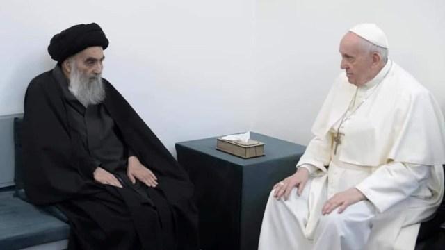 Papa Francisco se reúne con el gran ayatolá chiita Ali Sistani en Nayaf, Irak
