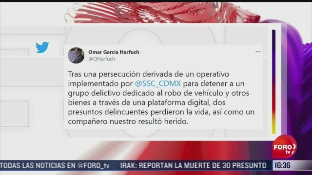 persecucion derivada de un operativo en iztapalapa deja dos muertos harfuch